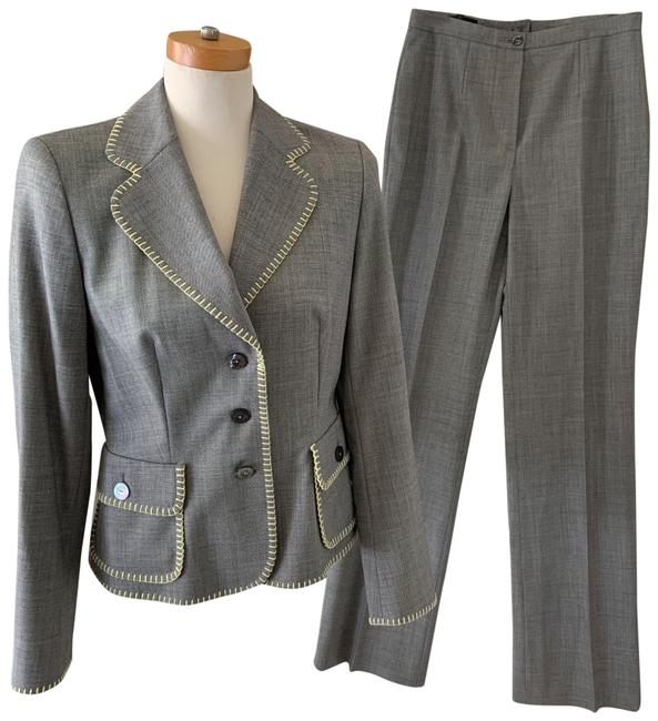 Item - Gray Yellow Stitched 36 / 38 Pant Suit Size 6 (S)
