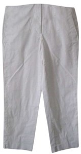 J.Crew City Fit Cuff Slit Detail Capris white