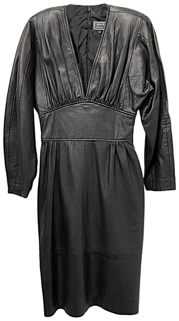 Item - Black Michael Hoban Mid-length Night Out Dress Size 4 (S)