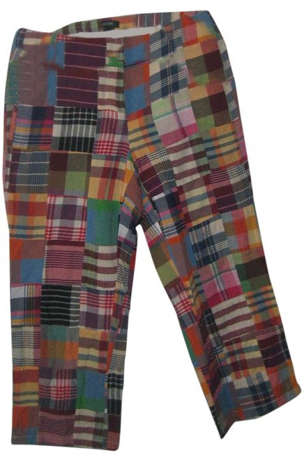 Item - Multicolor Patched Madras Plaid Low Fit Capris Size 4 (S, 27)