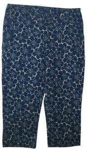 Boden Cropped Trouser Trouser Pants blue/white floral