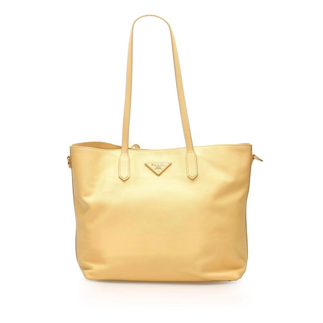 Item - Bag Saffiano Yellow Leather Tote