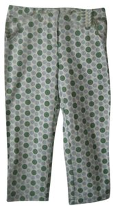 Boden Cropped Length Capris blue/green dot print
