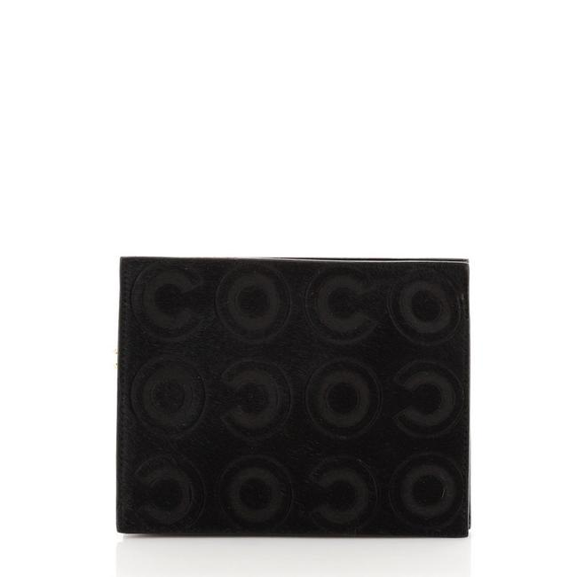 Item - Black Zip Pouch Coco Pony Hair Small