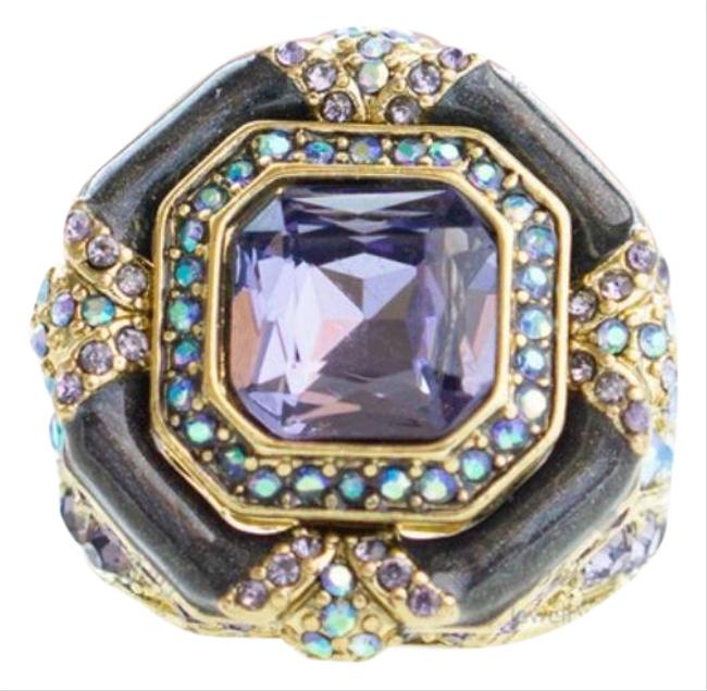 """Item - Purple """"Day and Night"""" Crystal and Enamel Ring"""