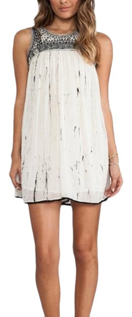 Item - Ivory Aztec Short Night Out Dress Size 0 (XS)