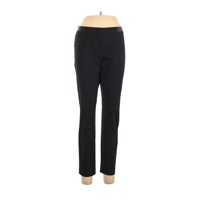 Item - Black Seasonless Stretch Faux Leather Ankle Career Pants Size 8 (M, 29, 30)