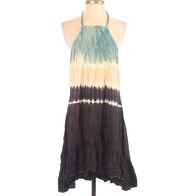 Item - Gray By Tie Dye Halter Summer Bohemian Viscose Small Short Casual Dress Size 4 (S)
