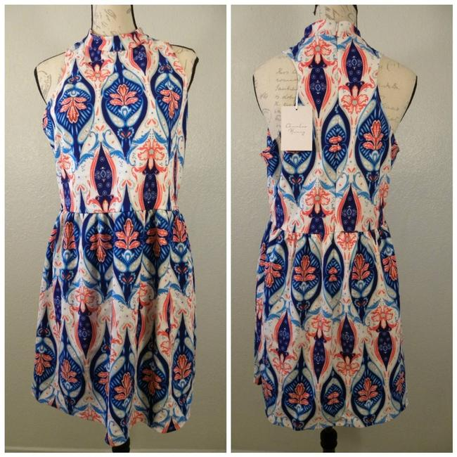 Item - White XL Sleeveless Floral Fit Flare Short Casual Dress Size 16 (XL, Plus 0x)