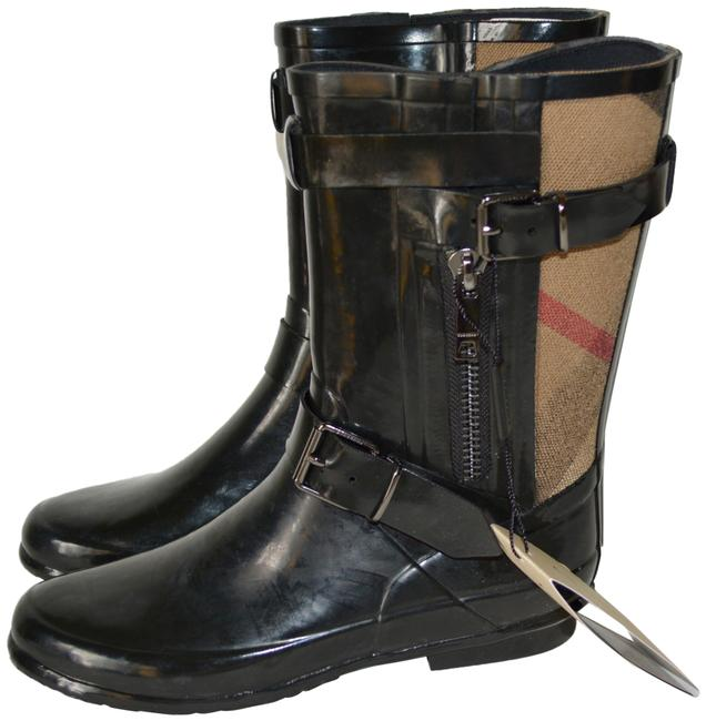 Item - Black Normandale Buckle Rubber Rain Boots/Booties Size US 7 Regular (M, B)