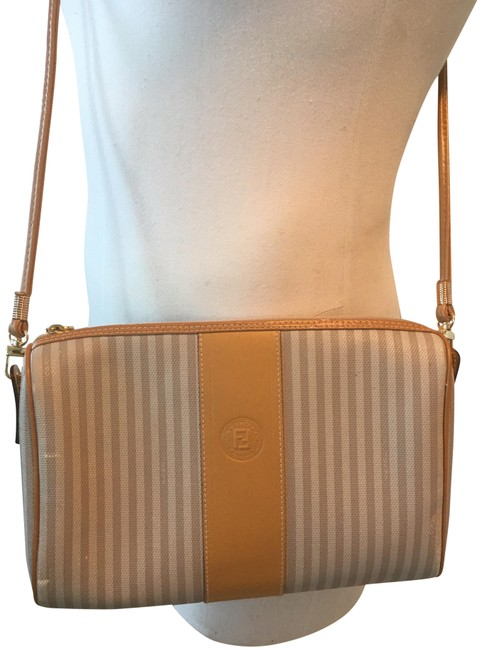 Item - Vintage Small Stripe and Wallet White Lambskin Leather Cross Body Bag