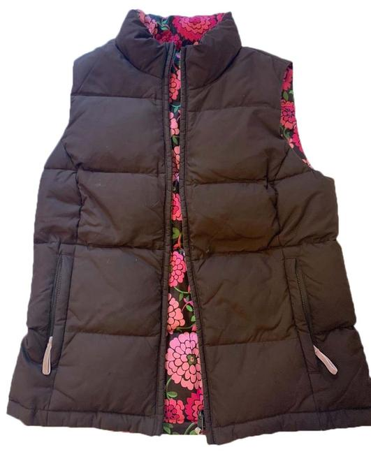 Item - Brown/Pink Reversible Puffy Vest Size 2 (XS)