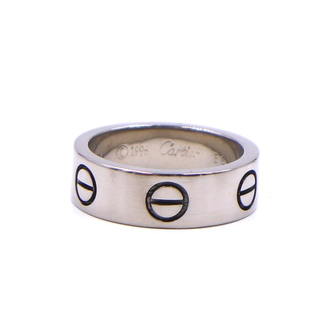 Item - #41480 White Gold 18k 750 Love Band 5.5mm Wide Size 46 3.75 Ring