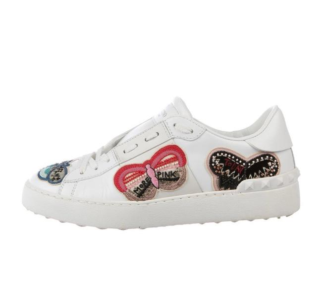 Item - White Multi Embroidered Sneakers Size EU 37.5 (Approx. US 7.5) Regular (M, B)