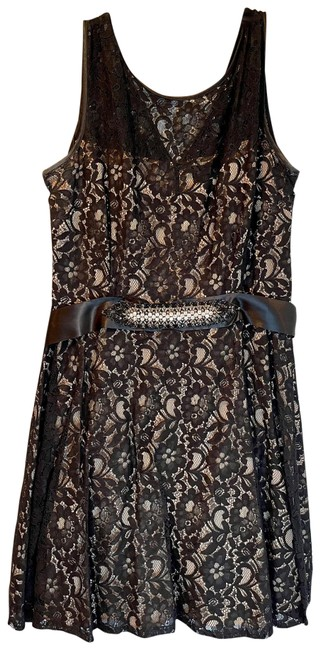 Item - Black with Nude Lining And Short Cocktail Dress Size 18 (XL, Plus 0x)