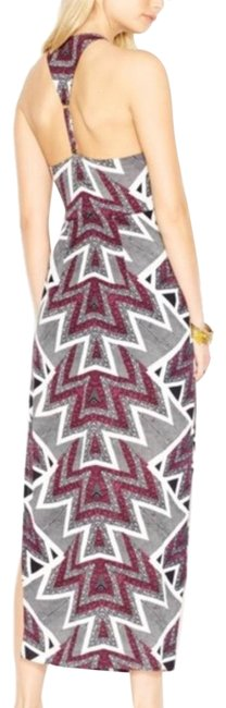 Item - Black Burgundy Stubby Crinkle Serves You Right Long Casual Maxi Dress Size 8 (M)