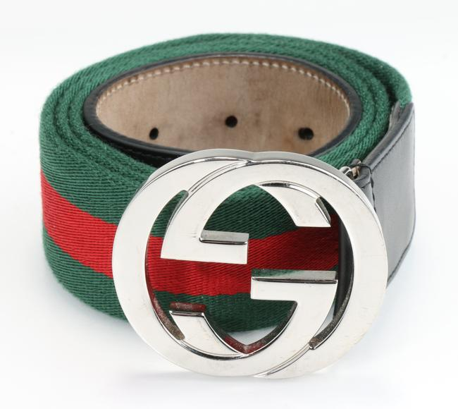 Item - Red/Green Belt with G Buckle Men's Jewelry/Accessory