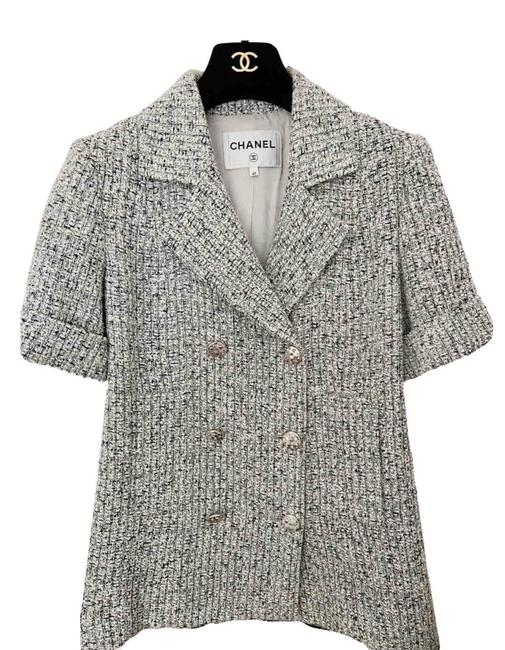 Item - White 2018ss Sequined Tweed Jacket Size 8 (M)