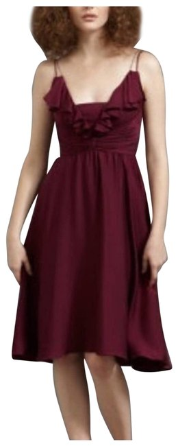 Item - Red Bhldn Berry Couplet Mid-length Formal Dress Size 14 (L)