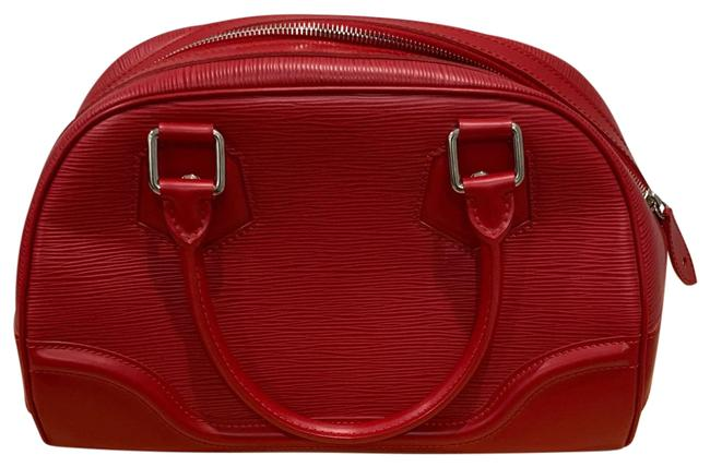 Item - Bowling Montaigne Red Epi Leather Tote