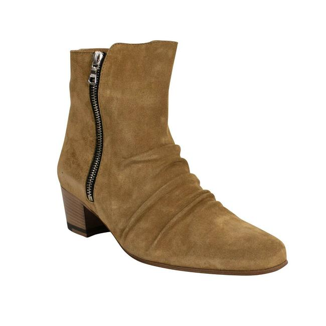 Item - Beige Tan Suede Stack Ankle 8/38 Boots/Booties Size US 8 Regular (M, B)