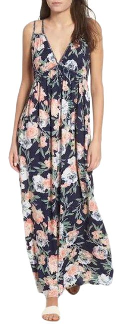 Item - Blue White Floral Strappy Casual Maxi Dress Size 8 (M)