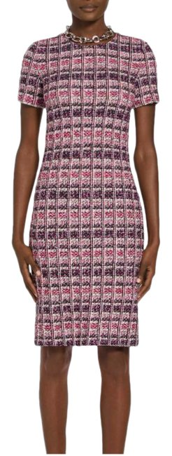 Item - Multicolor Monarch Textured Tweed Knit Sheath Mid-length Work/Office Dress Size 10 (M)