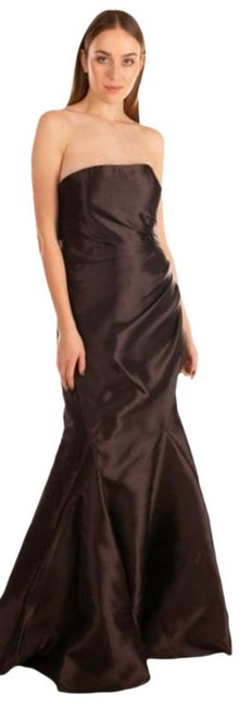 Item - Brown Coffee Chocolate Off The Shoulder Taffeta Ruched Mermaid Long Formal Dress Size 8 (M)