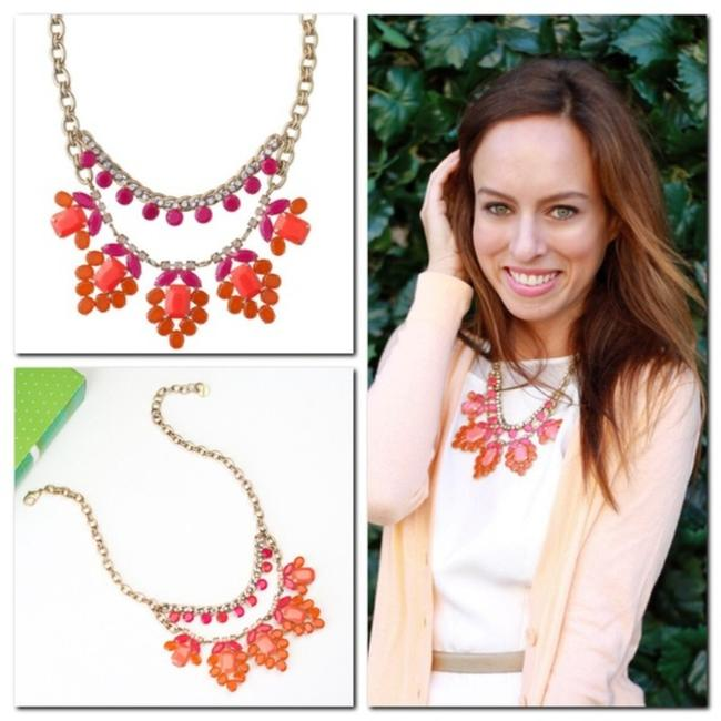 Item - Orange Gold And Awakening Statement Necklace
