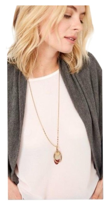Item - Gold Red Color Pop Interchangeable Necklace