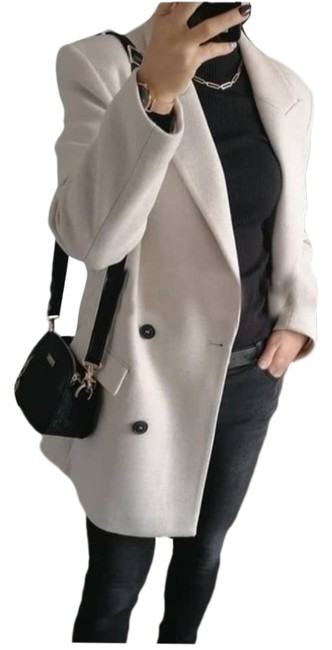 Item - Grey Double Breasted Coat Size 16 (XL, Plus 0x)
