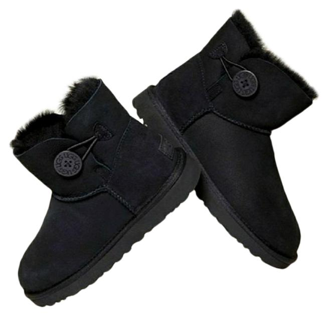 Item - Black Mini Bailey Button New-size Boots/Booties Size US 7 Regular (M, B)