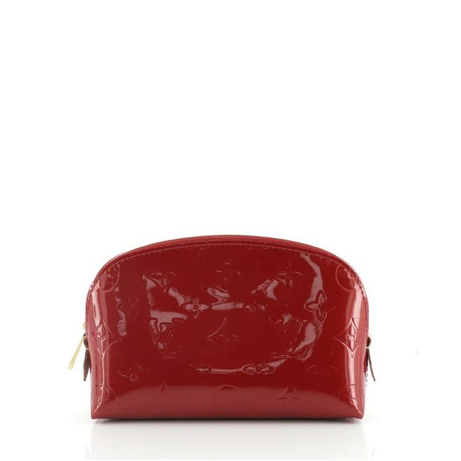 Item - Red Pouch Monogram Vernis Cosmetic Bag