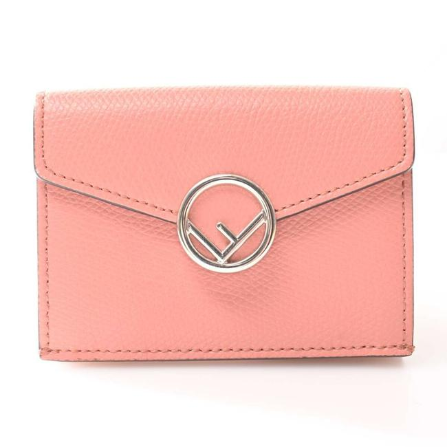 Item - Pink Leather Micro Tri-fold Wallet