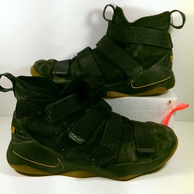 Item - Black Noir W/Brown Lebron Soldier 11 (2017) Youth Boy's Zoom Air Basketball 5y Shoes