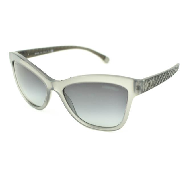 "Item - Translucent Gray ""Cc"" Logo ""Quilted"" (Ld) Sunglasses"