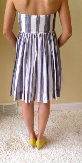 J.Crew short dress Blue and White Stripe on Tradesy