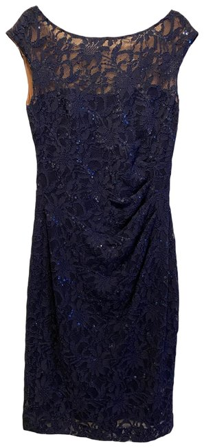 Item - Navy New Mid-length Cocktail Dress Size 2 (XS)