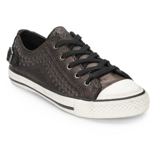 Item - Midnight Leather Lace-up Virgo Embossed Low-top Sneakers Size EU 37 (Approx. US 7) Regular (M, B)