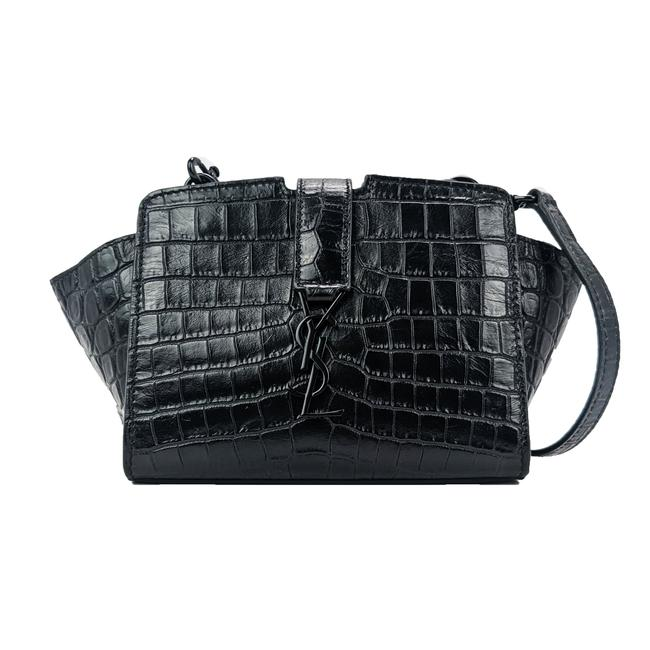 Item - Monogram Cabas Toy Black Leather Cross Body Bag