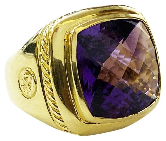 Item - Amethyst Gold Albion Cocktail Ring