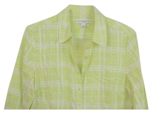 Item - Green Yellow Button-down Top Size 8 (M)