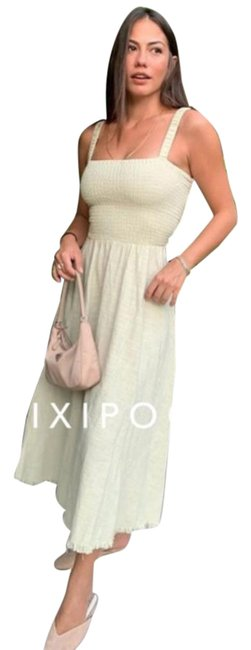 Item - Green Rustic Cotton Midi Strappy Back Mid-length Casual Maxi Dress Size 8 (M)