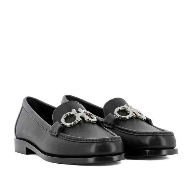 Item - Black Women's 'rolo' Gancini Leather Loafers Flats Size US 8 Wide (C, D)