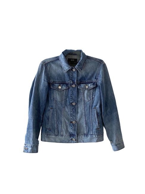 Item - Blue Indigo Distress Jacket Size 4 (S)