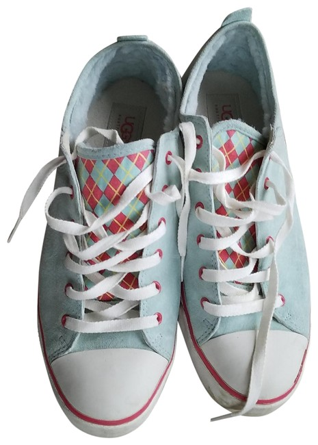 Item - Light Blue Pink Evera Lace-up Sneakers Size US 11 Regular (M, B)