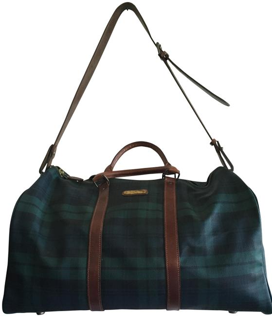 Item - Collection Plaid Hunter Green Patent Leather Weekend/Travel Bag