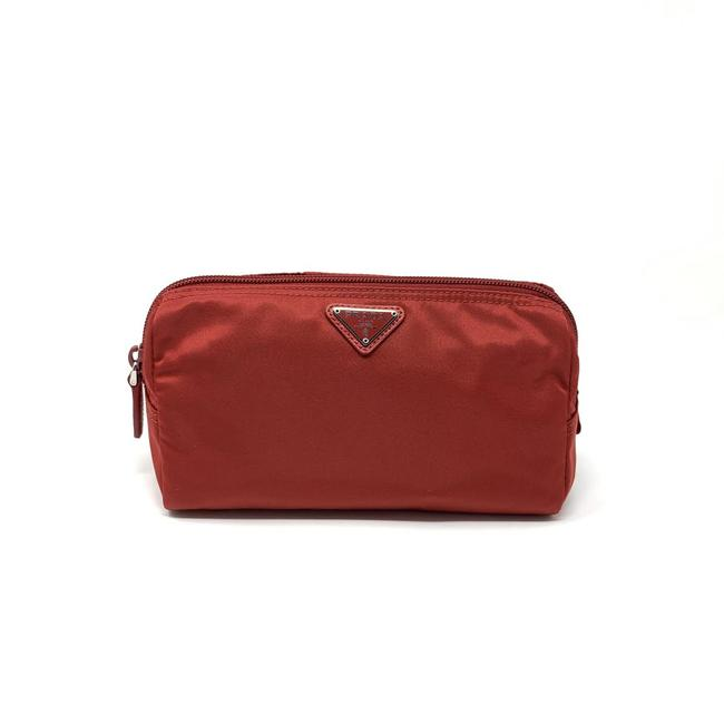 Item - Red Nylon Cosmetic Bag