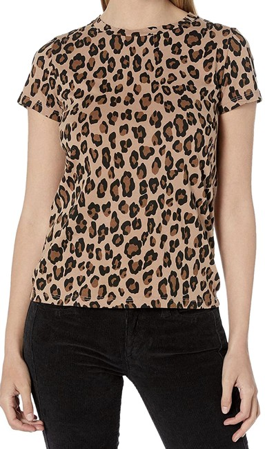 Item - Leopard Mocha Fitted 90's Tee Shirt Size 8 (M)