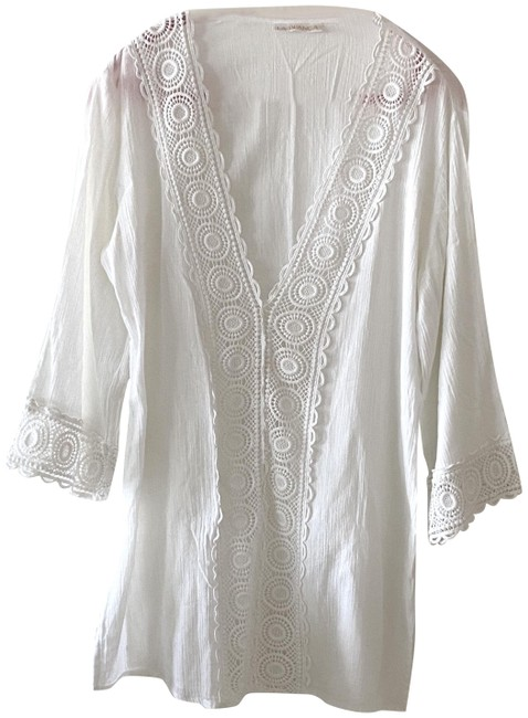 Item - White Island Fare Cotton Tunic Cover-up/Sarong Size 12 (L)